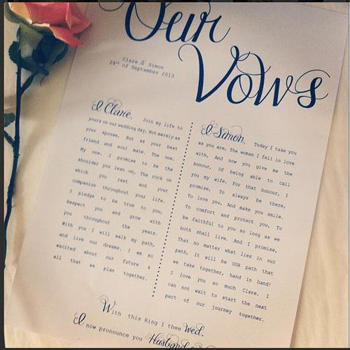 vows i do marry u